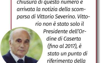 """Il cordoglio de """"Il Giornale dell'ingegnere"""" per il nostro caro Vittorio Severino"""